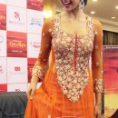 Deepika Padukone In Orange Bollywood Anarkali Frock