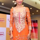 Deepika Padukone In Orange Designer Anarkali Churidar