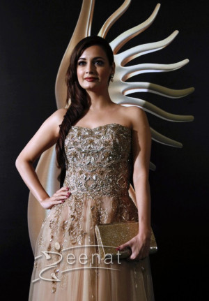 Dia Mirza in Bollywood Clothing