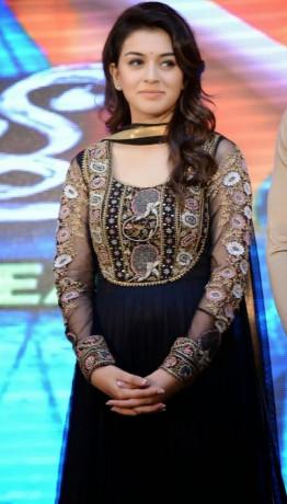 Hansika Motwani at Audio Release of Telugu Film 'Doosukeltha'