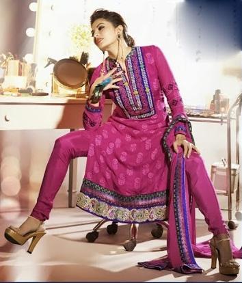 Jacqueline Fernandez In Designer Salwar Kameez 2D