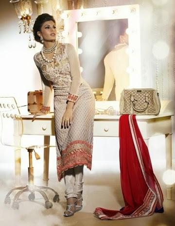 Jacqueline Fernandez In Designer Salwar Kameez 2A