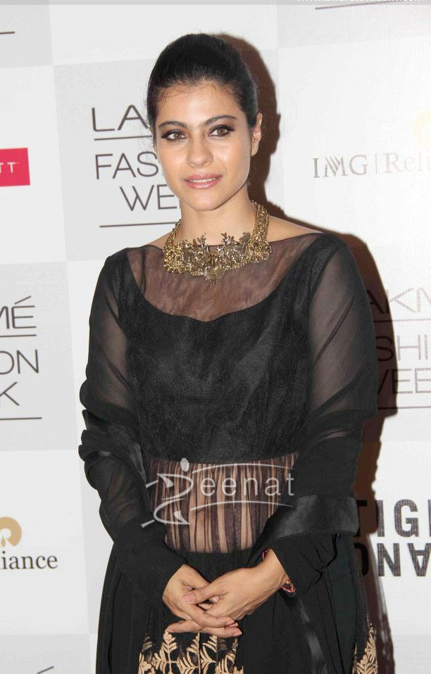 Kajol at Lakme Fashion Week Winter Festive 2013