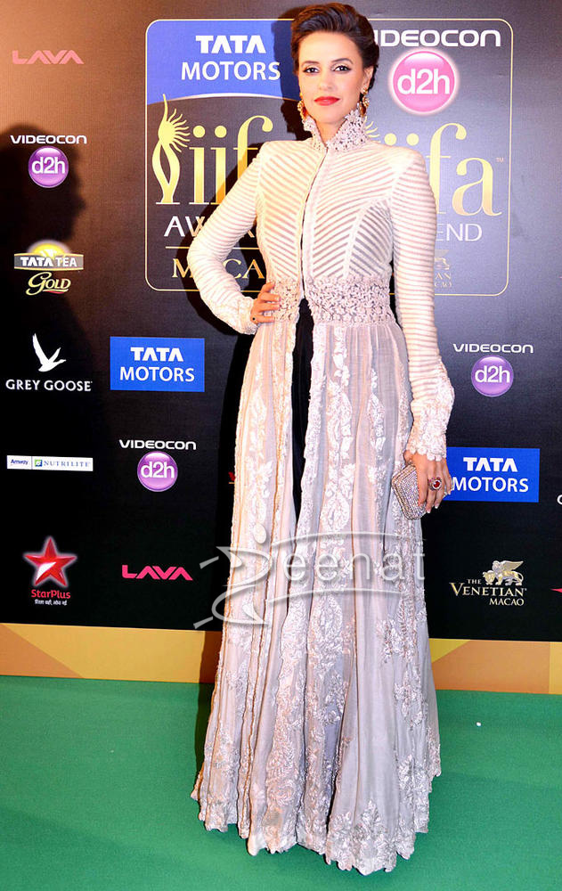 Neha Dhupia in Designer Frocks