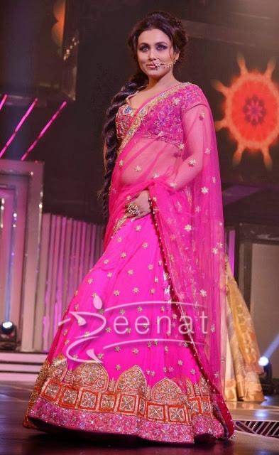 Rani Mukherji In Designer Lehenga Saree