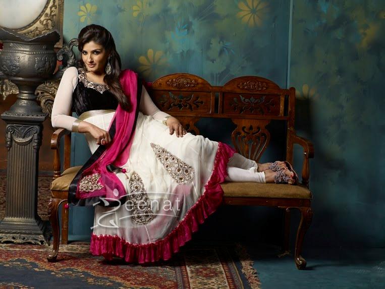 Raveena Tondon In Designer Anarkali Suite 1A