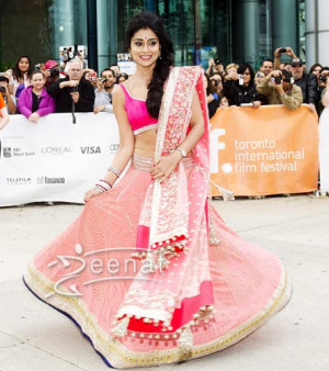 Shriya in pink lehenga