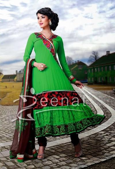 Sonal Chauhan In Designer Anarkali Churidar 1a