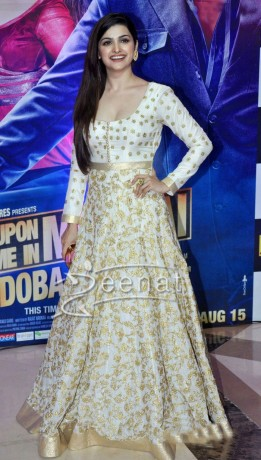 Prachi Desai in Long white Anarkali suit at Ekta kapoor iftar party 2013