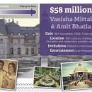 Vanisha Mittal & Amit Bhatia - $58 million