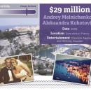 Andrey Meinichenko & Aleksandra Kokotovich - $29 million