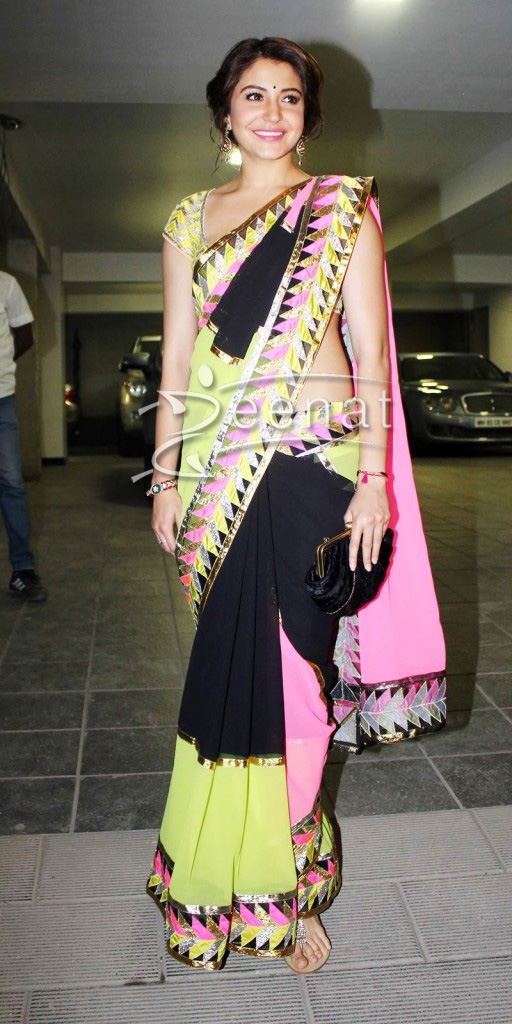 Anushka Sharma In Designer Saree