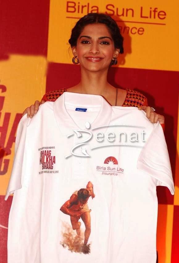Sonam Kapoor In Orange Anarkali Lehenga