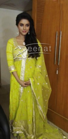 Bollywood Actress Asin in Anita Dongre Outfit