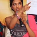 Deepika In Grey Anarkali Frock