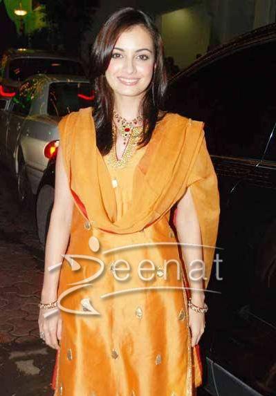 Diya Mirza at Shilpa Shetty's Diwali Bash