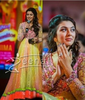 Hansika In Designer Floor Length Anarkali