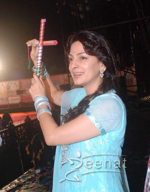 Juhi Chawla Promotes Main Krishna Hoon Falguni Pathak Dandiya