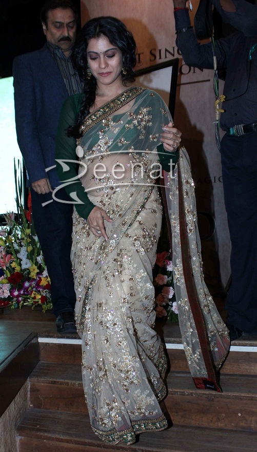 Kajol in Sabyasachi saree at HT Most Stylish Awards 2013