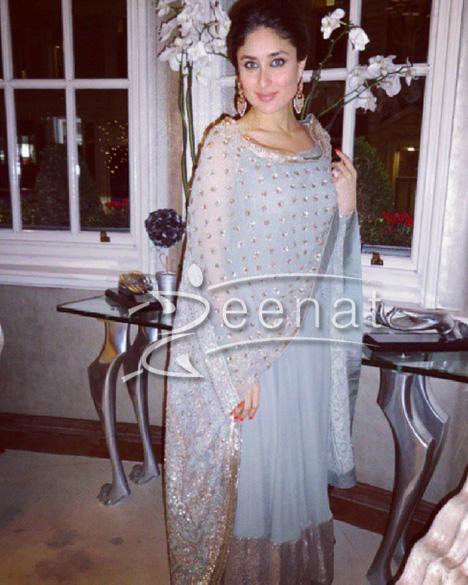 6cfaeef119eed Kareena Kapoor In Bollywood Anarkali Frock | Zeenat Style