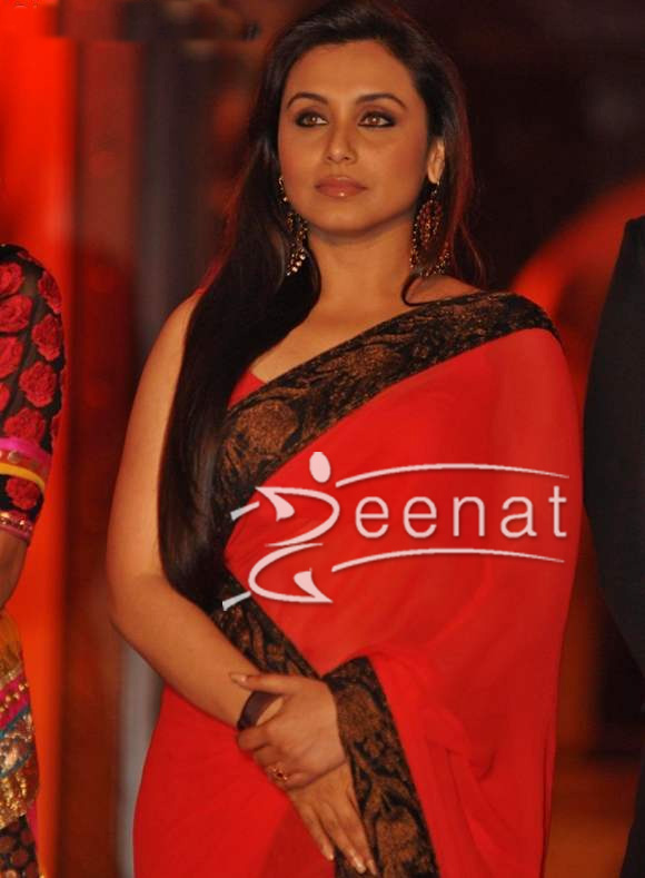Rani Mukherji in red sari at Saraswatichandra launch