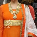 Aditi Rao In Orange Anarkali Suit