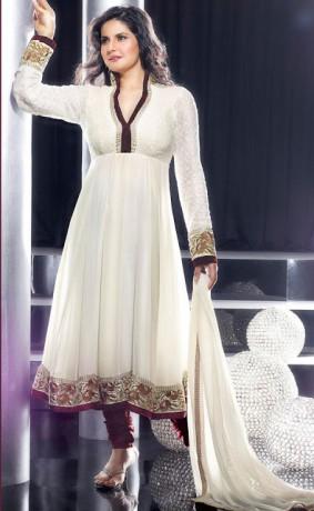 Zarine Khan In Anarkali Suit R445