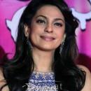 Juhi Chawla In Blue Anarkali Suit