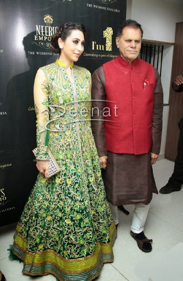 Karisma Kapoor in Light Green Anarkali