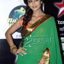 Shilpa Shetty in Green Saree on Nach Baliye 6