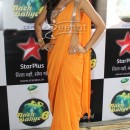 Shilpa Shetty In Orange Saree On The Sets Of Nach Baliye 6