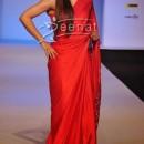 Soha Ali Khan In Designer Red Saree
