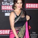 Sophie In Black Pink Saree