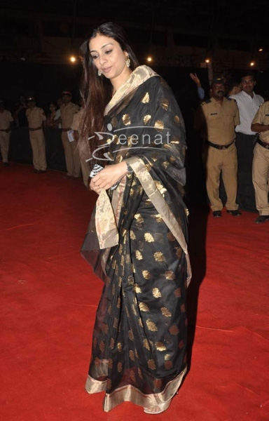 Tabu In Designer Black Saree