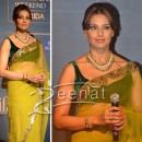 Bipasha Basu In Designer Net Saree