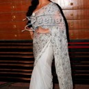 Elli Avram In Designer White Saree