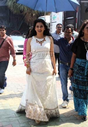 Juhi Chawla In Anarkali Frock