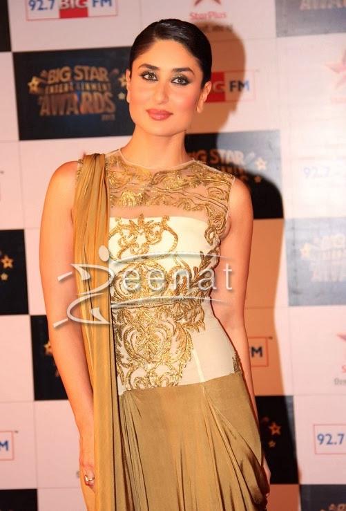 Kareena Kapoor at Big star award 2014