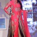 Lara Dutta In Pink Shirt With Lehenga