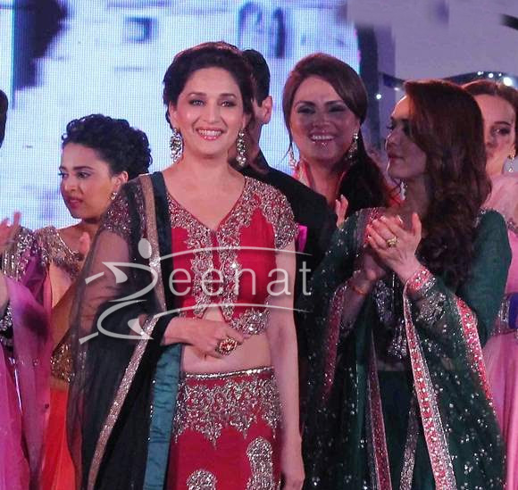 Madhuri Dixit at Save and Empower Girl Child Fashion Show 2014