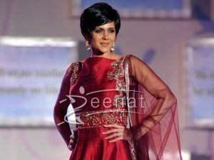 Mandira Bedi In Designer Anarkali Frock