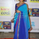 Pallavi Sharda In Designer Blue Saree