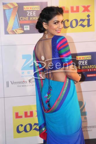 Pallavi Sharda In Blue Saree | Zeenat Style
