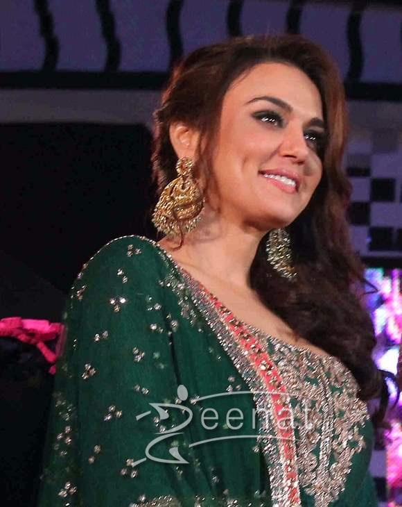 Preity Zinta In Green Lehenga Choli