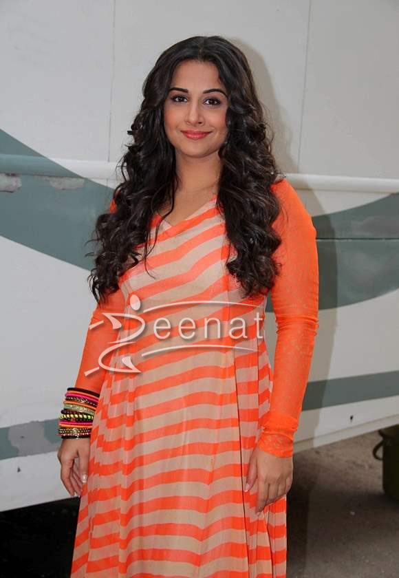 Vidya Balan In Orange Printed Anarkali