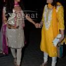Juhi Chawla In Cream and Pink Salwar Kameez