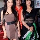 Mahi Gill In Designer Black Saree