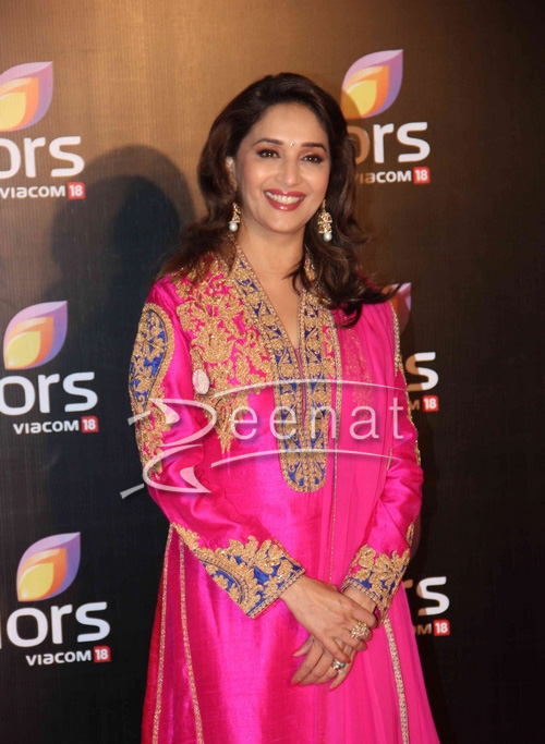 Madhuri at Colors' party 2014