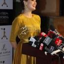 Dia Mirza in Designer Anarkali Frock