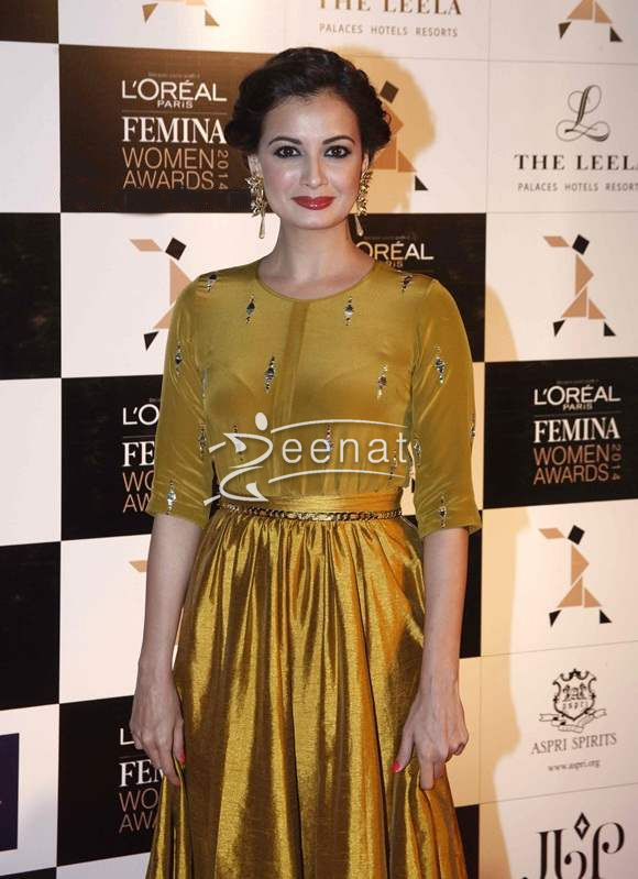Dia Mirza in Anarkali Suit